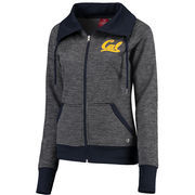 Women's Colosseum Charcoal Cal Bears Velocity Cowl Neck Full-Zip Jacket