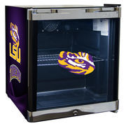 LSU Tigers Refrigerated Beverage Center with Glass Door
