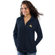 Women's Columbia Navy Marquette Golden Eagles Give & Go Full-Zip Jacket