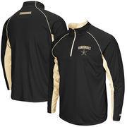 Men's Colosseum Black Vanderbilt Commodores Lineman 1/4 Zip Jacket