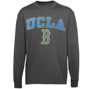 Men's New Agenda Charcoal UCLA Bruins Midsize Arch Over Mascot Long Sleeve T-Shirt