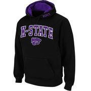 Men's Stadium Athletic Black Kansas State Wildcats Arch & Logo Pullover Hoodie