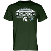 Men's Blue 84 Green Michigan State Spartans 2015 Big Ten Conference Football Champions Locker Room T-Shirt