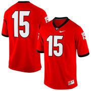 Men's Nike No. 15 Red Georgia Bulldogs Replica Game Football Jersey