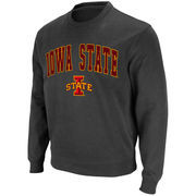 Men's Stadium Athletic Charcoal Iowa State Cyclones Arch & Logo Crew Pullover Sweatshirt