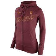 Women's Nike Cardinal USC Trojans Stadium Game Day KO Full Zip Therma-FIT Hoodie