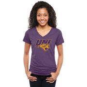 Women's Purple Northern Iowa Panthers Classic Primary Tri-Blend V-Neck T-Shirt
