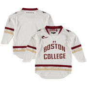 Youth Under Armour White Boston College Eagles Replica Hockey Performance Jersey