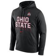 Men's Nike Black Ohio State Buckeyes Circuit Football Pullover Performance Hoodie