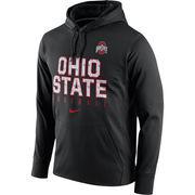Men's Nike Black Ohio State Buckeyes Circuit Therma-FIT Performance Hoodie