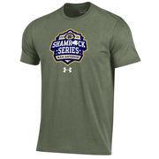 Men's Under Armour Green Notre Dame Fighting Irish 2016 Shamrock Series Logo Charged Cotton T-Shirt