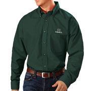 Men's Antigua Green Hawaii Warriors Esteem Woven Button-Down Long Sleeve Shirt