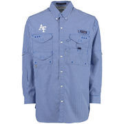 Columbia Air Force Falcons Royal Super Bonehead PFG Long Sleeve Shirt