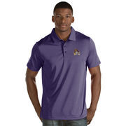Men's Antigua Purple East Carolina Pirates Quest Stripe Jersey Polo