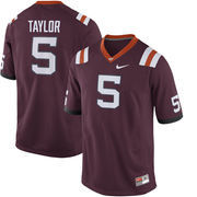 Men's Nike Tyrod Taylor Maroon Virginia Tech Hokies Alumni Football Jersey