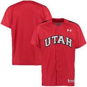 Men's Under Armour Red Utah Utes Replica Baseball Performance Jersey