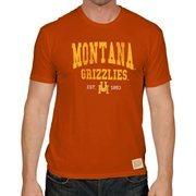 Men's Montana Grizzlies Original Retro Brand Brown Retro Crew T-Shirt