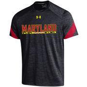 Men's Under Armour Black Maryland Terrapins Microstripe Performance T-Shirt