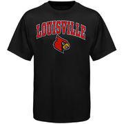 Men's New Agenda Black Louisville Cardinals Arch Over Logo T-Shirt