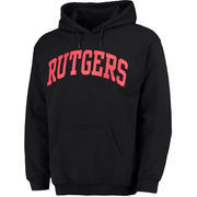 Men's Fanatics Branded Black Rutgers Scarlet Knights Basic Arch Pullover Hoodie