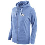 Women's Nike Carolina Blue North Carolina Tar Heels Tailgate Gym Vintage Full-Zip Hoodie