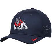 Men's Nike Navy Fresno State Bulldogs Sideline Coaches Vapor Performance Adjustable Hat