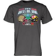 Men's Blue 84 Charcoal Maryland Terrapins vs. Boston College Eagles 2016 Quick Lane Bowl Dueling T-Shirt