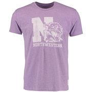 Men's Original Retro Brand Heathered Purple Northwestern Wildcats Vintage Tri-Blend T-Shirt