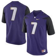 Washington Huskies Nike No. 7 Replica Football Jersey - Purple
