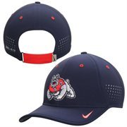 Men's Nike Navy Fresno State Bulldogs Dri-FIT Sideline Coaches Adjustable Hat