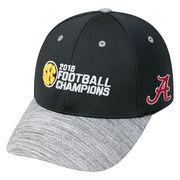Men's Top of the World Black Alabama Crimson Tide 2016 SEC Football Champions Locker Room Structured Adjustable Hat