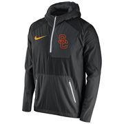 Men's Nike Black USC Trojans 2016 Sideline Vapor Fly Rush Half-Zip Pullover Jacket