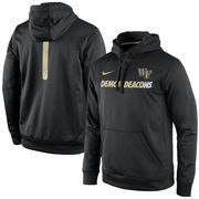Men's Nike Black Wake Forest Demon Deacons 2015 Sideline KO Fleece Therma-FIT Performance Hoodie