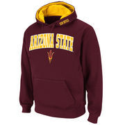 Men's Stadium Athletic Maroon Arizona State Sun Devils Arch & Logo Pullover Hoodie