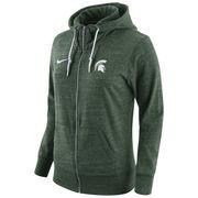 Women's Nike Green Michigan State Spartans Tailgate Gym Vintage Full-Zip Hoodie