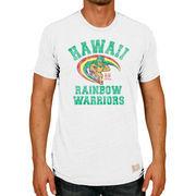Men's Original Retro Brand Heather Gray Hawaii Warriors Vintage Rainbow Warriors Tri-Blend T-Shirt