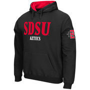 Men's Stadium Athletic Black San Diego State Aztecs Double Arches Pullover Hoodie