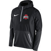 Men's Nike Black Ohio State Buckeyes 2016 Sideline Vapor Fly Rush Half-Zip Pullover Jacket