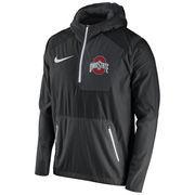 Men's Nike Black Ohio State Buckeyes 2016 Sideline Vapor Fly Rush Half-Zip Pullover Jacket