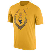 Men's Nike Gold West Virginia Mountaineers Legend Icon Dri-FIT Performance T-Shirt