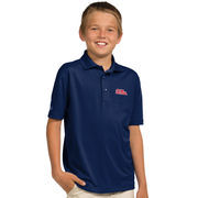 Youth Antigua Navy Ole Miss Rebels Pique Desert Dry Xtra-Lite Polo