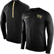 Men's Nike Black Wake Forest Demon Deacons Sideline KO Performance Fleece Crew Sweatshirt