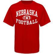 Nebraska Cornhuskers Reversal Football T-Shirt - Scarlet