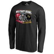 Men's Fanatics Branded Black Temple Owls vs. Wake Forest Demon Deacons 2016 Military Bowl Motion Matchup Long Sleeve T-Shirt