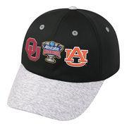 Men's Top of the World Black/Heather Gray Oklahoma Sooners vs. Auburn Tigers 2017 Sugar Bowl Dueling Adjustable Hat