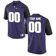 Nike Mens Washington Huskies Custom Replica Football Jersey - Purple