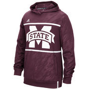 Men's adidas Maroon Mississippi State Bulldogs 2015 Sideline Shock Energy Climalite Performance Hoodie
