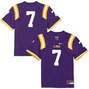 Youth Nike #7 Purple LSU Tigers Replica Football Jersey