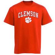Men's New Agenda Orange Clemson Tigers Arch Over Logo T-Shirt
