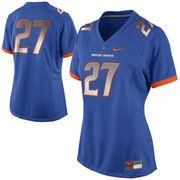 Women's Nike No. 27 Royal Blue Boise State Broncos Game Jersey